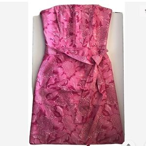 Lilly Pulitzer Strapless Pink floral/camo Dress